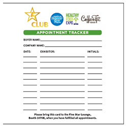 NEW! EXCLUSIVE FIVE STAR APPOINTMENT TRACKER - $500